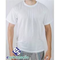 Camisa Sublimática Para Sublimação Poliester Branca Lisa