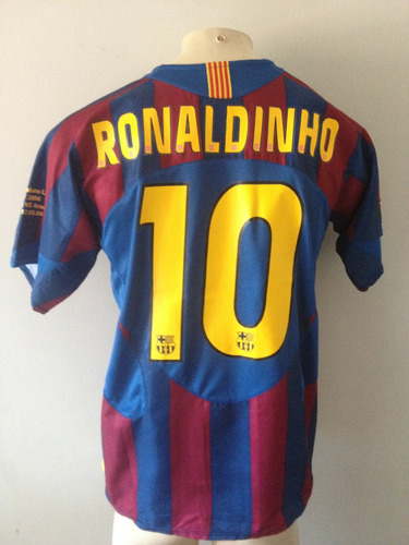 Camisa Barcelona Nike  10 Ronaldinho Champions 2006 - Rara 1b31e248238f6