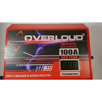 Overloud 100a Fonte Carregador Bateria Voltímetro Bivolt Us