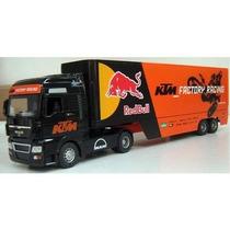 Caminhão Red Bull Man Tgx Truck Ktm Factory Racing Team 1:32