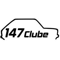 Adesivo Decorativo Parabrisa Carro Club - Clube Do Fiat 147