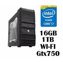 Pc Cpu Intel Core I7 16 Gb Memória Ram - Hd 1tb - Gtx750