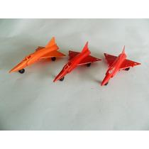 Lote 3 Avião Caça Em Plastico - Antigo Anos 80 Mitroplast