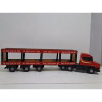 Miniatura Caminhão Bitrem Carreta Vanderleia Scania