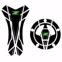 Protetor Relevo Tankpad + Bocal Tanque Moto Kawasaki Z 750