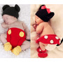Conjunto Newborn Mickey Ou Minnie De Croche Fotografia Touca