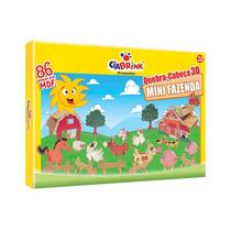 Quebra-cabeça 3d Mini Fazenda, Infantil, Divertido, C/nf