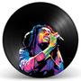 Quadro Do Bob Marley Em Disco De Vinil - Decoração