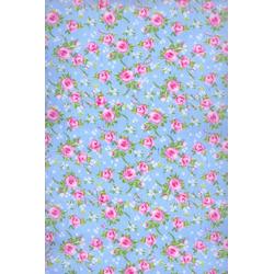 Tricoline Pequenas Flores Azul
