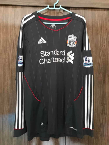 aebe42000 Linda Camisa Liverpool 2011/2012 Away Mangaslongas #7 Suarez