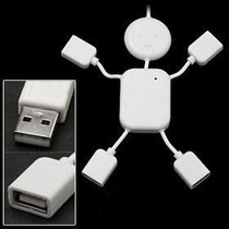 Mini Hub Usb 2.0 Menino Funny Kid 4 Portas Notebook E Pc