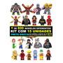 Kit 15 Bonecos Super Heróis Marvel Star Wars Disney Similar Original