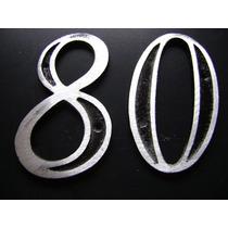 Número Residencial Colonial 7,5 X 11,5 Aluminio 80 Unidades