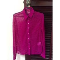 Camisa Feminina Dudalina Pink Original Renda N36 Nova