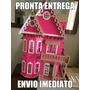Casa Casinha De Boneca Mdf Polly -pintada Com Kit Móveis