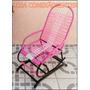 Cadeira De Balanço Infantil Com Mola Cor Rosa