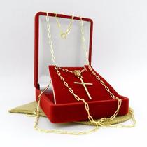Corrente Masculina 70cm 2mm Frete Gratis Folheado Ouro Cr543