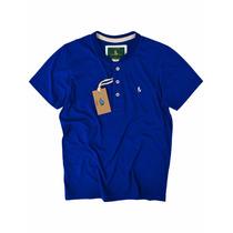 Camiseta Gola O Azul Bic Com Pate Original S&f Várias Cores