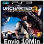 Uncharted 3 Drakes [> Jogo Dublado Português Psn Ps3 Play