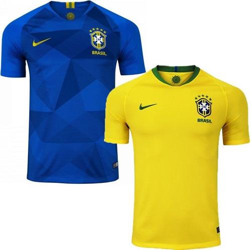 Kit 02 Camisas Seleção Brasileira Oferta Copa 2018 Aproveite. R  104.9 792ec930c3d4a