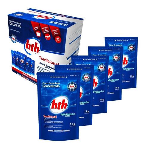 Cloro Granulado Refil Zip Hth 5 Unidades 1kg Tratamento