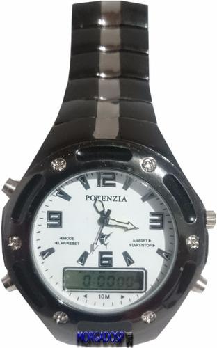 a2c927f5389 Relógio Masc. Potenzia Digital analógico Original - Promoção. Preço  R  66  57 Veja MercadoLibre