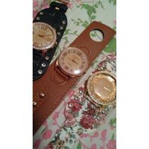 Kit Com 3 Relógios Femininos