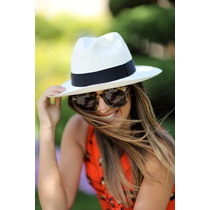 Chapéu Moda Panamá Fedora Aba Larga Masculino Feminino Praia