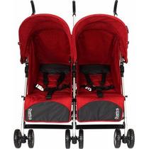 Carrinho De Bebê Para Gêmeos Burigotto Duetto-atimo Vermelho