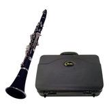Clarinete Shelter Tjs6402 Niquelado Bb Com Hard Case