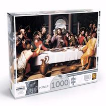 Quebra Cabeça Puzzle 1000 Peças Santa Ceia - Grow