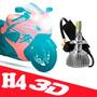 Lampada H4 Xenon Led 3d Moto Farol Dianteiro 3600 Lumens