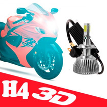 Lampada 3d Farol Xenon Led Moto 150 3600 Lm 6000k H4 Top