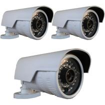 Kit 3 Câmera Externa Ip 1.3mp Hd 720p Onvif 2.4 Pega Placa