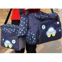 Kit Bolsa Maternidade Bebê 4 Peças Azul Escuro Ou Azul Claro
