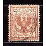 Itália 1901-26 * Brasão .de Armas * Águia * 2c .marr .laranj