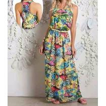 Vestido Feminino Longo Casual Praia - Barato !!!