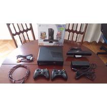Xbox 360 Slim, Hd 250gb, 2 Controles, Kinect, 35 Jogos