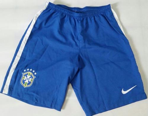 Calção Nike Seleção Brasileira Home I Azul 2014 Jogador 29c862fa383c7