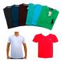 Kit 15 Camisa Camiseta Masculina De Marca Gola V Top Revenda