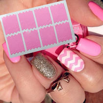 10 Cartelas De Stencil Decoração -unhas -nail