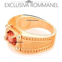 Rommanel Anel Formatura Masculino 4 Zirconia Lilas 511753