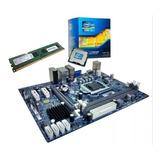 Kit Upgrade Placa Mãe + Processador I5 3.40ghz + Memória 4gb