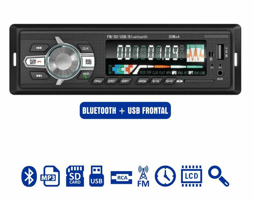 Toca Rádio Bluetooth Fm Carro Mp3 Pen Automotivo Usb Sd Aux