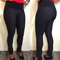 Calça Jeans Feminina Skinny Cós De Elástico