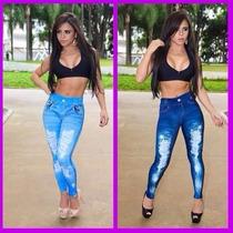 Calça Legging Que Imita Jeans. Atacado Mínimo De 6 Pçs.