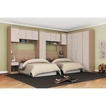 Dormitório Modulado Solteiro 10 Peças - Demóbile Módena