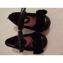 Sapato Inf. Com Laço De Veludo Preto Oshkosh 5m 14cm 3 Anos
