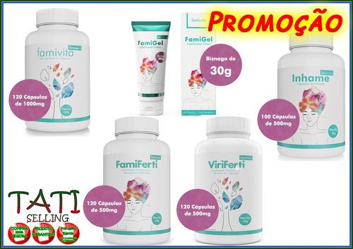69d576b9509 Famiferti +inhame +viriferti +omega 3 + Famigel Frete Grátis