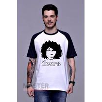 Camiseta Raglan The Doors Jim Morrison Banda Rock - Algodão